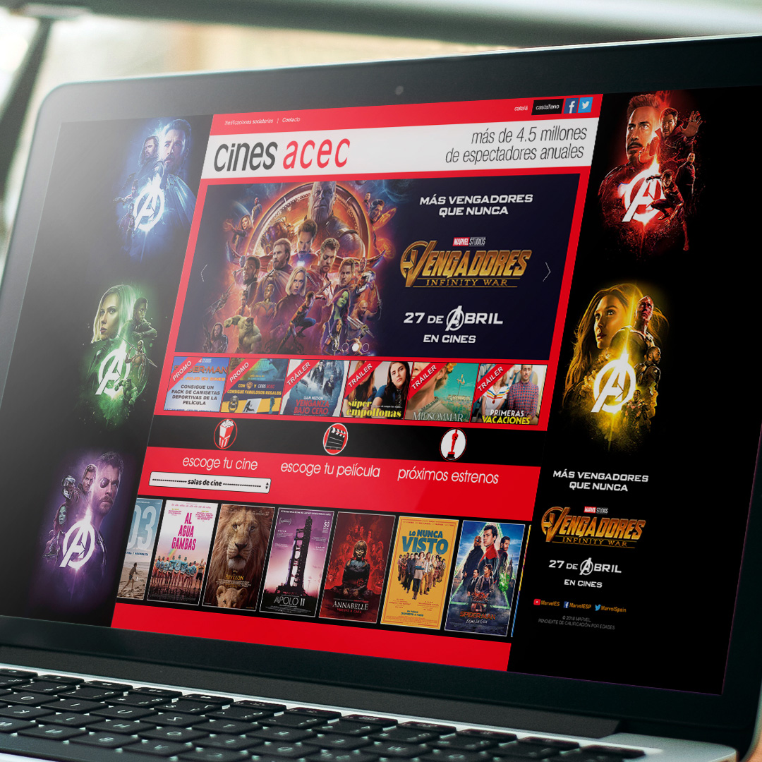 Avengers Cinema Web Skin